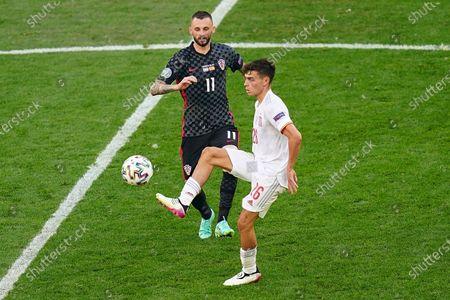 Editorial image of Croatia v Spain Euro 2020 match, round of 16. Football, Parken Stadion, Copenhagen, Denmark - 28 Jun 2021