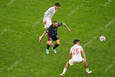 Editorial photo of Croatia v Spain Euro 2020 match, round of 16. Football, Parken Stadion, Copenhagen, Denmark - 28 Jun 2021