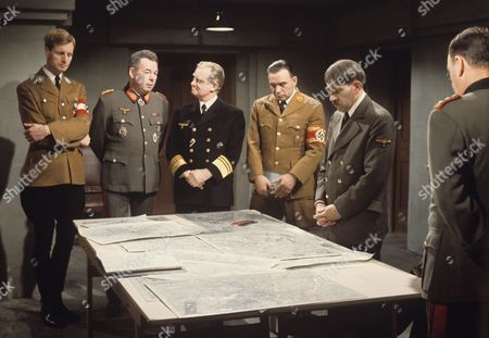 Group scene with  Ed Devereaux and Frank Finlay