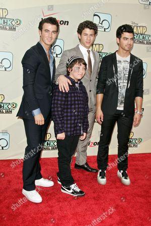 Kevin Jonas, Frankie Jonas, Nick Jonas and Joe Jonas