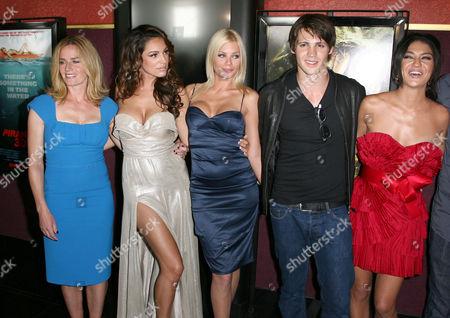 Elisabeth Shue, Kelly Brook, Riley Steele, Steven R. McQueen and Jessica Szohr