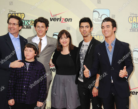 Stock Image of Gary March, Frankie Jonas, Nick Jonas, Carolina Lightcap, Joe Jonas, Kevin Jonas