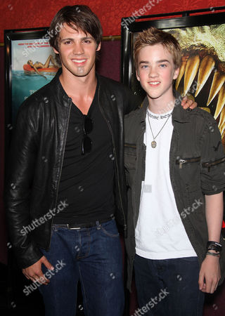 Stock Image of Steven R McQueen and brother Jesse Robitaille