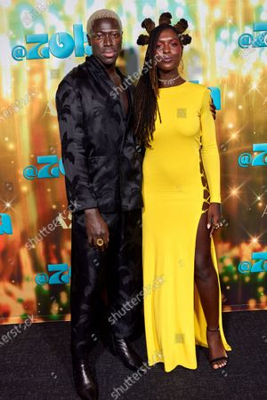 Stock Image of Moses Sumney and Jodie Turner Smith