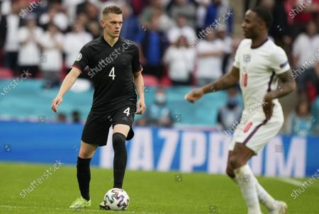Stock Image of Matthias Ginter of Germany in action during the UEFA EURO 2020 round of 16 soccer match between England and Germany in London, Britain, 29 June 2021.