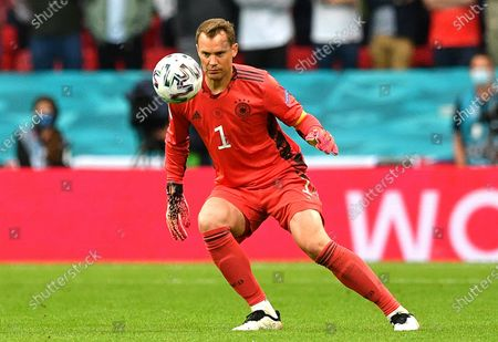 Germany's goalkeeper Manuel Neuer in action during the UEFA EURO 2020 round of 16 soccer match between England and Germany in London, Britain, 29 June 2021.