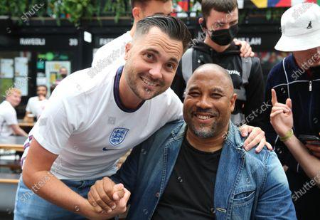 Editorial image of Fans watching England v Germany, Croydon, London, UK - 29 Jun 2021