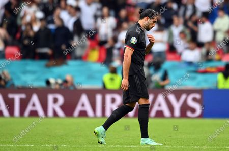 Emre Can of Germany reacts after the UEFA EURO 2020 round of 16 soccer match between England and Germany in London, Britain, 29 June 2021.