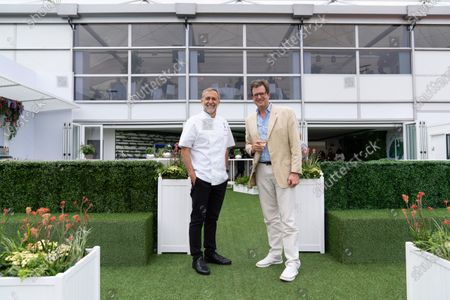 Stock Image of Michel Roux Jnr and William Sitwell