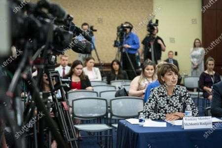 Rep. Cathy McMorris Rodgers, (R-WA), speaks at a forum on the origin of the coronavirus pandemic with Republican members of the House Select Subcommittee on the Coronavirus Crisis on Capitol Hill in Washington, DC, on Tuesday, June 29, 2021. The debate over whether the coronavirus emerged from a laboratory in Wuhan, China has escalated over the past few weeks.