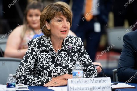 United States Representative Cathy McMorris Rodgers (Republican of Washington) offers remarks at a Republican-led forum on the origins of the COVID-19 virus, at the U.S. Capitol, at the US Capitol in Washington, DC,.