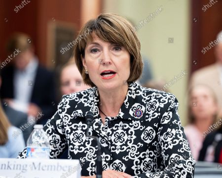 U.S. Representative Cathy McMorris Rodgers (R-WA) speaks at a forum of the Republican House Select subcommittee on the Coronavirus Crisis.