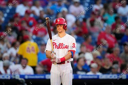 Philadelphia Phillies' Luke Williams plays during a baseball game against the Miami Marlins, in Philadelphia
