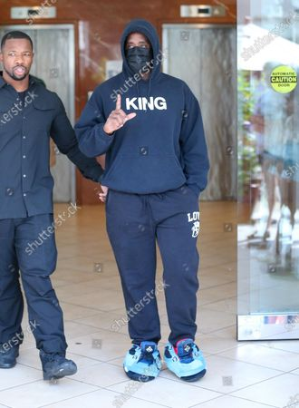 Sean Combs is seen dressed down in sweatclothes