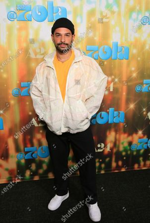 """Johnny Sibilly seen at Los Angeles special screening of A24's """"ZOLA"""", in Los Angeles"""