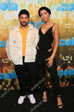 """Stock Photo of Johnny Sibilly and Isis King seen at Los Angeles special screening of A24's """"ZOLA"""", in Los Angeles"""