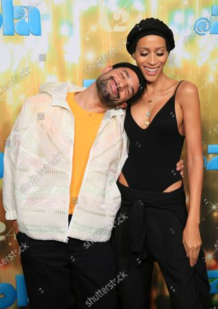 """Johnny Sibilly and Isis King seen at Los Angeles special screening of A24's """"ZOLA"""", in Los Angeles"""
