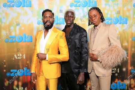"""Colman Domingo, Moses Sumney and co-writer Jeremy O. Harris seen at Los Angeles special screening of A24's """"ZOLA"""", in Los Angeles"""