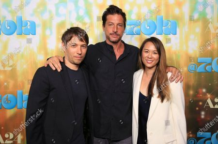 """Sean Baker, Simon Rex and Samantha Quan seen at Los Angeles special screening of A24's """"ZOLA"""", in Los Angeles"""