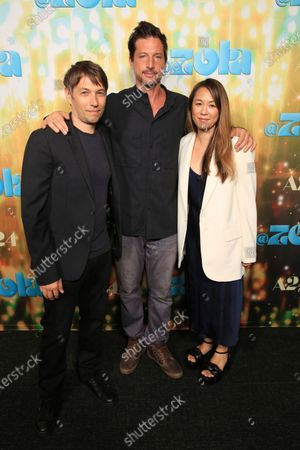 """Stock Image of Sean Baker, Simon Rex and Samantha Quan seen at Los Angeles special screening of A24's """"ZOLA"""", in Los Angeles"""