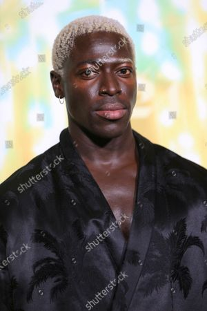 """Moses Sumney seen at Los Angeles special screening of A24's """"ZOLA"""", in Los Angeles"""