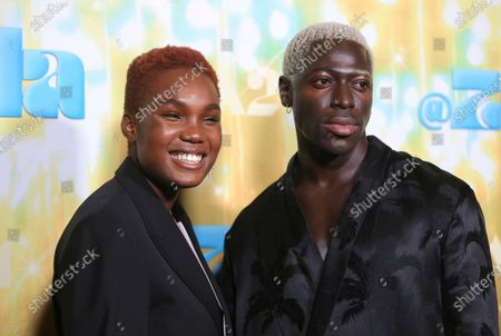 """Arlo Parks and Moses Sumney seen at Los Angeles special screening of A24's """"ZOLA"""", in Los Angeles"""