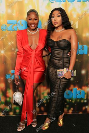 """Stock Image of Nelcie Souffrant and Nastassia Smith seen at Los Angeles special screening of A24's """"ZOLA"""", in Los Angeles"""