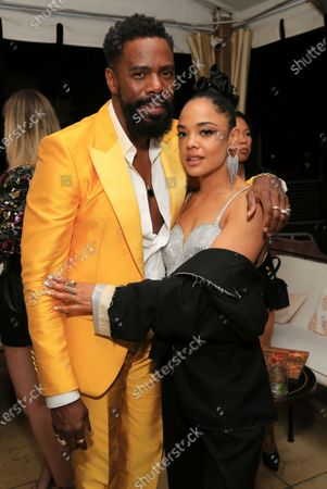 """Colman Domingo and Tessa Thompson seen at Los Angeles special screening of A24's """"ZOLA"""", in Los Angeles"""