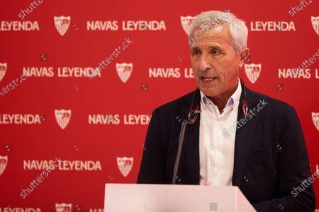 Pablo Blanco, Quarry Director of Sevilla Futbol Club during the renewal act of Jesus Navas, player of Sevilla Futbol Club at Sanchez Pizjuan stadium on June 28, 2021 in Seville, Spain.