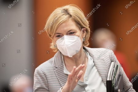 Stock Picture of Agriculture and Consumer Protection Minister Julia Kloeckner arrives for the weekly government cabinet meeting on June 30, 2021 in Berlin, Germany.