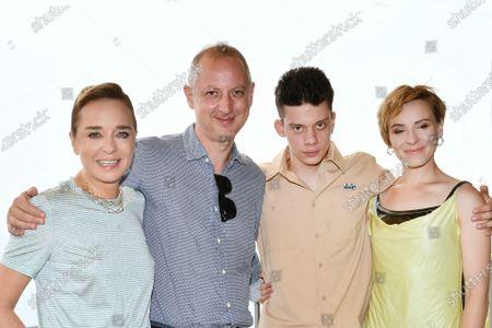 Valeria Golino, the director Claudio Cupellini, Leon de la Vallee, Maria Roveran