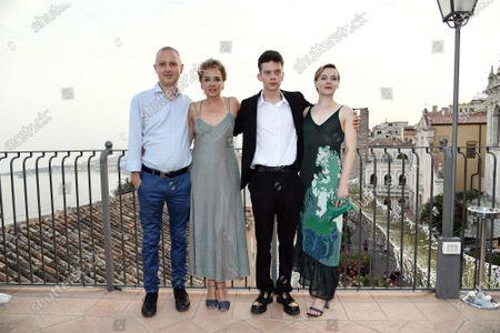 Stock Image of Director Claudio Cupellini, Valeria Golino, Leon de la Vallee, Maria Roveran