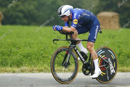 Danish rider Michael Morkov of the Deceuninck Quick-Step team in action during the 5th stage of the Tour de France 2021, an individual time trial over 27.2 km from Change to Laval Espace Mayenne, France, 30 June 2021.