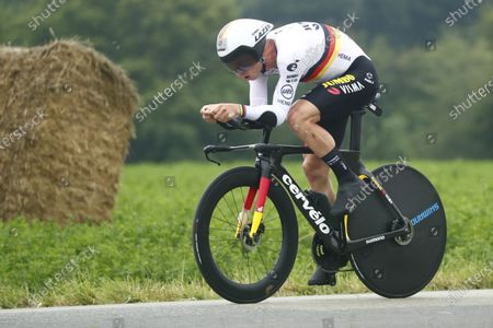 German rider Tony Martin of the Jumbo Visma team in action during the 5th stage of the Tour de France 2021, an individual time trial over 27.2 km from Change to Laval Espace Mayenne, France, 30 June 2021.