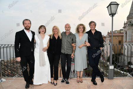 Director Michela Cescon and cast Ivano De Matteo, Valeria Golino directors of festival Federico Pontiggia, Alessandra De Luca and Francesco Alo