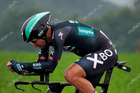 Solvakia's Peter Sagan competes during the fifth stage of the Tour de France cycling race, an individual time-trial over 27.2 kilometers (16.9 miles) with start in Change and finish in Laval Espace Mayenne, France