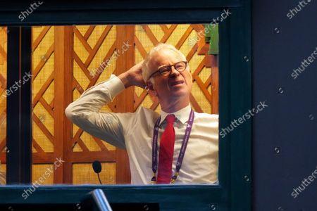 John McEnroe in the commentary box