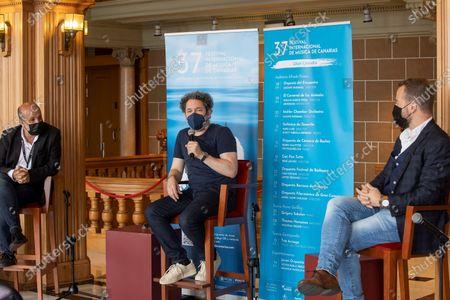 Editorial picture of Gustavo Dudamel offers press conference in Canary Islands, Las Palmas De Gran Canaria, Spain - 30 Jun 2021