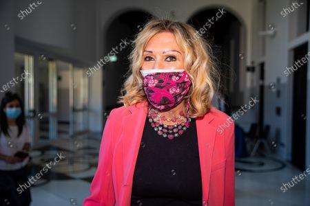 """Stock Image of Melania De Nichilo Rizzoli attends the Forza Italia """"Milano Ci Siamo"""" press conference at Palazzo delle Stelline on June 25, 2021 in Milan, Italy."""