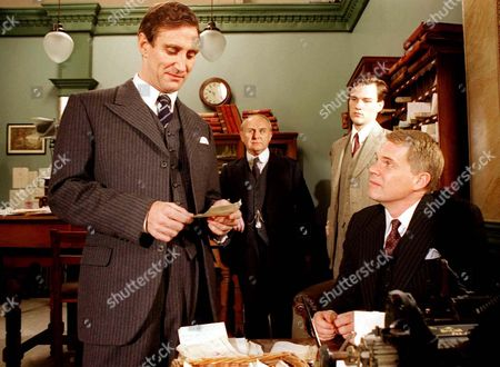 Marcus Bannerman (Mark McGann) (left) checks some of the Hotel's receipts in Ep.2 of 'The Grand' Brother John Bannerman (Michael Siberry) (right)