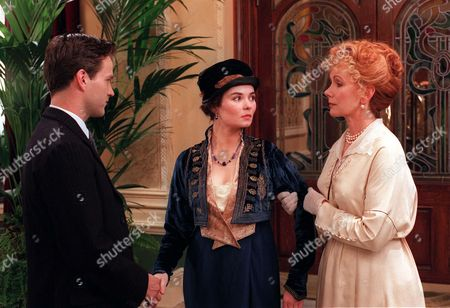 Stephen Bannerman (Stephen Moyer) thinks he has found love in the arms of Celia Sutton (Jayne Ashbourne) centre), but Esme Harkness (Susan Hampshire) recognises her from her past.