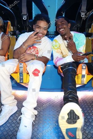 Stock Image of Justin Dior Combs and King Combs
