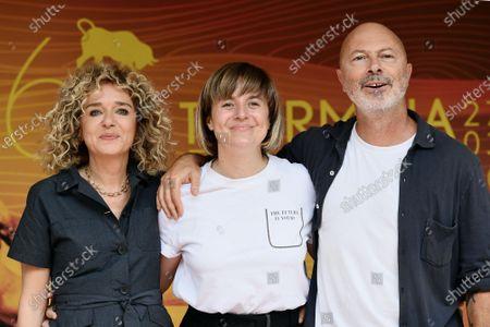 Stock Image of Valeria Golino, the director Michela Cescon, Ivano De Matteo