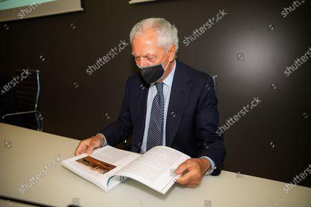 "Marco Tronchetti Provera attends ""60 Years Of Pirellone"" exhibition press conference at Palazzo Pirelli on June 29, 2021 in Milan, Italy."