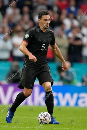 Germany's Mats Hummels during the Euro 2020 soccer championship round of 16 match between England and Germany at Wembley stadium in London