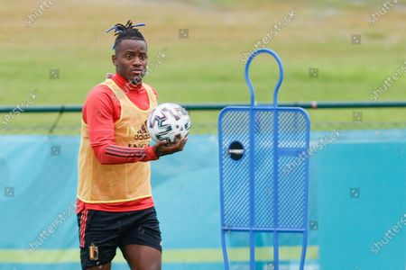Belgium's Michy Batshuayi pictured during a training session of the Belgian national soccer team Red Devils, in Tubize, Wednesday 30 June 2021. The team is preparing for the UEFA 2020 quarter-finals against Italy on Friday.