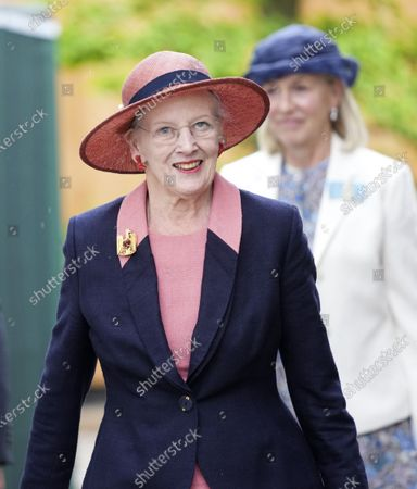 Stock Image of Queen Margrethe II of Denmark arrives to open the new H.C. Andersen Hus in Odense, Denmark, 30 June 2021. The new Hans Christian Andersen Museum celebrates the author of fairy tales like 'The Little Mermaid', who was born in Odense in 1805.