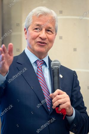 Jamie Dimon, CEO of JP Morgan, at the inauguration of the Paris offices of JP Morgan Bank