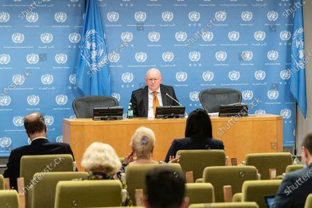 Editorial photo of NY: Monthly press briefing by Ambassador Vassily Nebenzia, New York, United States - 30 Jun 2021