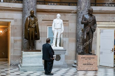 Rep. Jerrold Nadler, D-N.Y., looks at the statues in Statuary Hall as the House prepares to vote on the creation of a select committee to investigate the Jan. 6 insurrection, at the Capitol in Washington